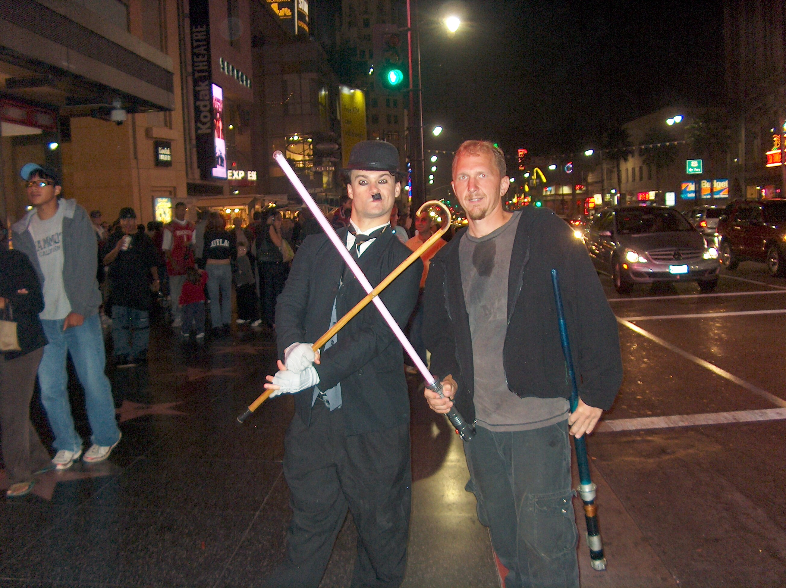 Charlie Chaplin and Abe R. Rated on Hollywood Blvd.